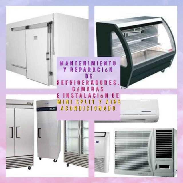 Se reparan refrigeradores domésticos cámaras y vitrinas